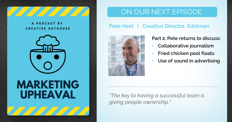 Part 2 – Pete Heid on a creative atmosphere and collaboration with younger team members